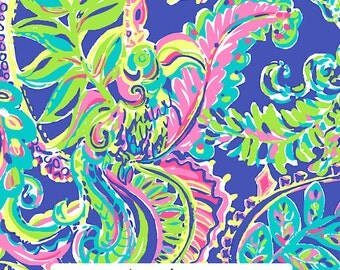 "Toucan Play Lilly Inspired HTV, pattern vinyl, sheet size 12""x12"" , Lily P adhesive printed patterned craft vinyl LP-114"