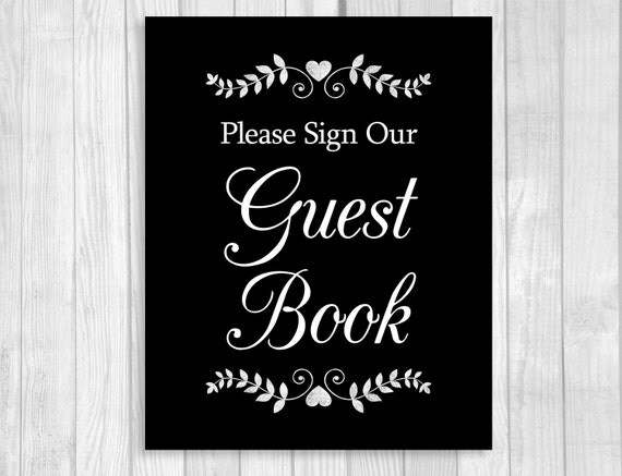Crush image pertaining to printable guest book