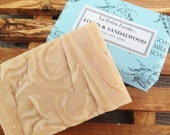 Lotus and Sandalwood goat milk soap - A beautiful scent - Free shipping offer in shop details
