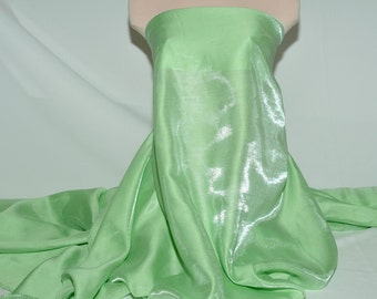 Shimmer Satin  fabric Lime Green   1 YD bridal, drapery. formal, costume,pageants, crafts ,decor