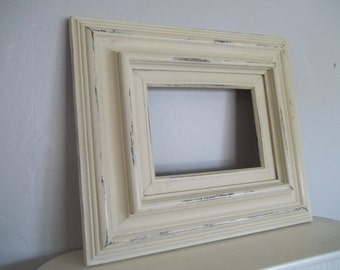 painted picture frame open back frame annie sloan chalk paint old ochre art frame empty frame