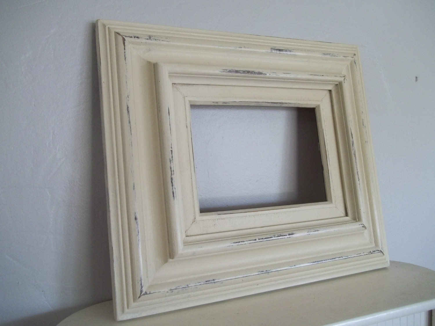 painted picture frame open back frame annie sloan chalk