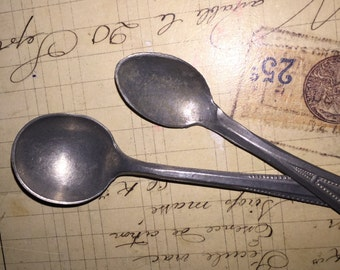 Vintage Aluminum German Play Spoons