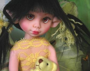 Fairy Fairies Fae pixie elf OOAK Fantasy Art Doll By Lori Schroeder 433BV