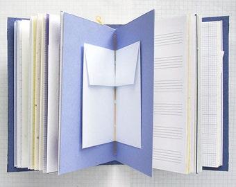 XOXO - Travel Journal - 4.5 x 6 inch A6 - Travel Journal - Mixed Paper Journal - Junk Journal