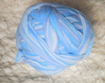 Shades of blue Merino top              8 ounces