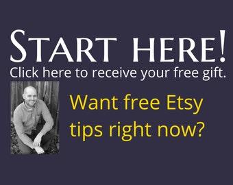 Start Here - FREE Etsy Resources from Jason Malinak CPA of JJMFinance & Etsy-preneurship Etsy Seller Handmade Vintage Supply Sellers Success