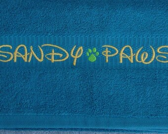 Sandy Paws - Towel for your Furry Friends - ONE Towel- Ready to Ship