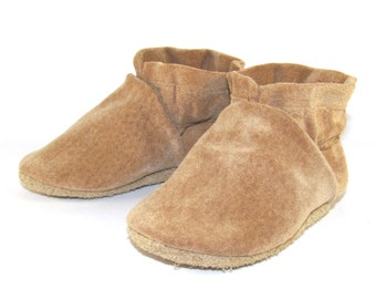 Soft Sole, Leather Baby Shoes, Moccs, 6 to 12 Month Eco Friendly