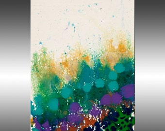 Abstract Garden 2 - Original Abstract Painting, Contemporary Modern Art Paintings, Canvas Wall Art