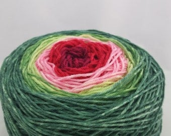 Watermelon Panoramic Gradient, 100g Fairy Dust, dyed to order