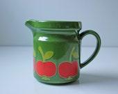 Vintage Waechtersbach apple green pitcher