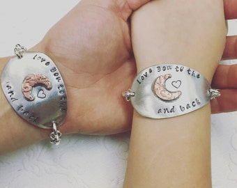 Love you to the moon and back spoon bowl braclets