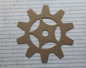 3 Bare chipboard die cuts larg Gear approx. 4 3/4 inches
