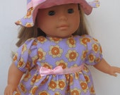 """Clothes for Corolle Mademoiselle Miss Corolle14"""" Dress and Hat"""