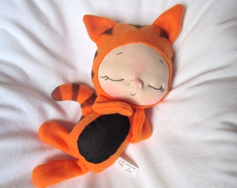 Orange Plush Tiger Doll by BeBe Babies