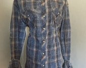 Buckle Black Label Vintage Blue Plaid Shirt