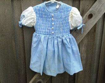Blue Gingham Dress 2/3T
