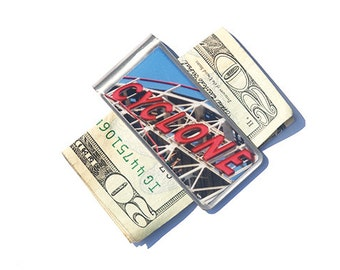 Cyclone Money Clip, Moneyclip, NYC money clip, Gift for Dad, Gift for Him, Father's Day Gift,  Gifts for Men, Groomsmen Gift,NYC photography