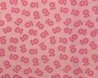 Pink floral fabric - 1 yard 30 inches x 40 inches
