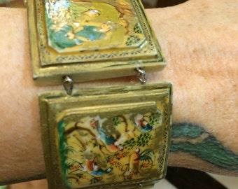 Antique Handpainted Persian Bracelet