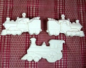 Unpainted Ceramics | Ceramic Bisque | Bisqueware | Train Ornaments | Christmas Ornaments | Ceramics to Paint | Christmas Trains