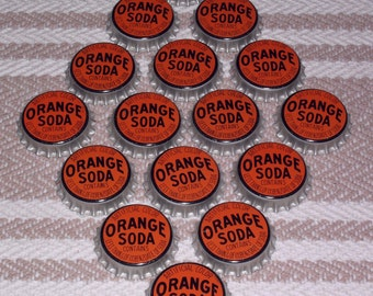 Lot of 16 Vintage Orange Soda Bottle Caps