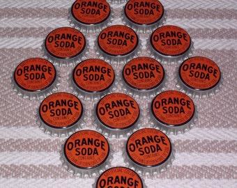 Lot of 16 Vintage Orange Soda Bottle Caps
