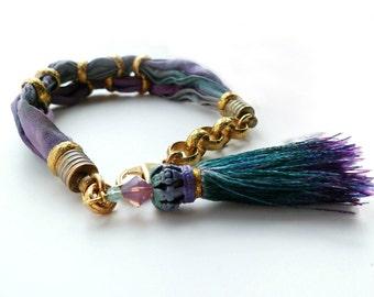 Habotai Silk Tassel Bracelet