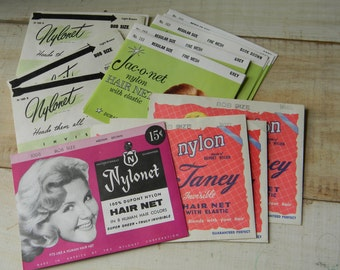 Vintage hair nets Different styles and hair colors