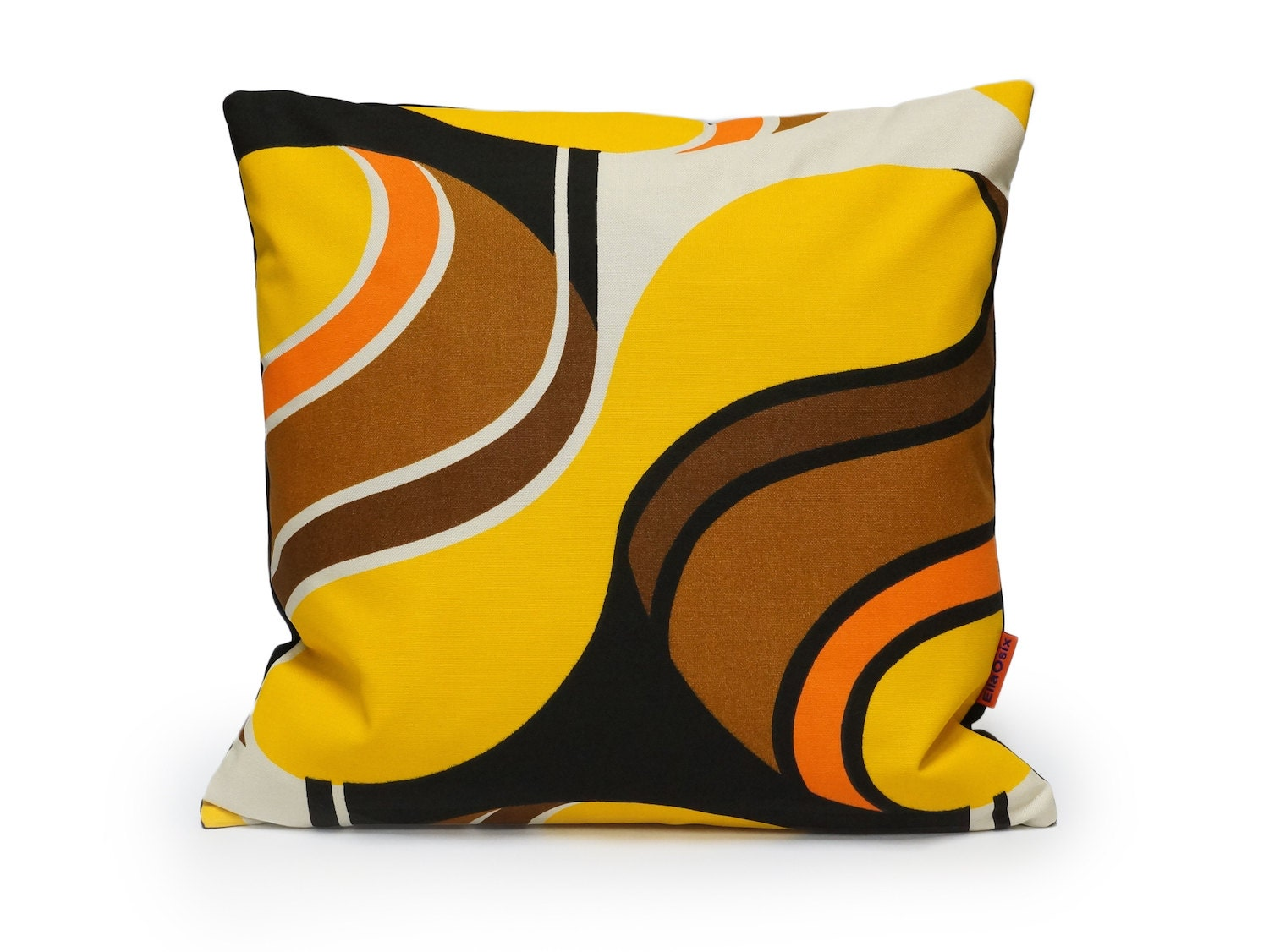 Yellow Mid Century Modern Pillow cover retro cushion case