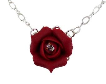 Rosebud Crystal Necklace - Rosebud Crystal Jewelry