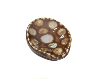 Small Spoon Rest Ceramic Pottery Kitchen Housewares Teaspoon Rest Dish Party Favor Shower Turtle Love Practical Home Dish Hostess Gift Brown