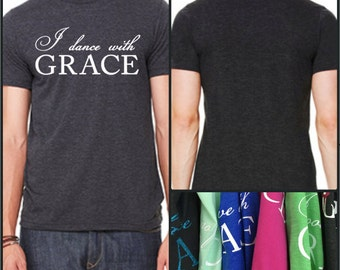 GraceWear Mens T-Shirt with Customized Text and Colors
