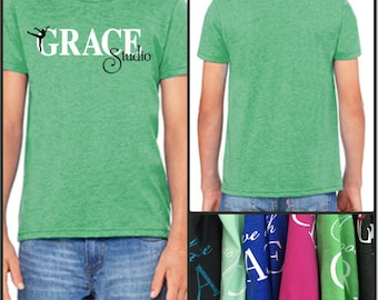 """GraceWear """"GRACE STUDIO"""" Toddler & Youth T-Shirt with Customized Colors"""