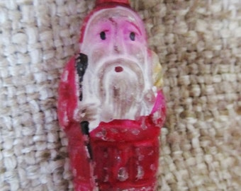 Vintage 1930's Early Japanese Double Sided Santa Figural Christmas Light