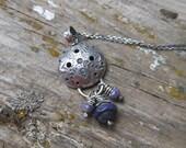 Essential Oil Diffuser Necklace - Violet Purple