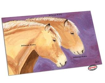 Norwegian Fjord Horse Art Norwegian Fjord Horse Print Abstract Horse Art Equine Art fjord horse lover horse gift horse decor Denise Every