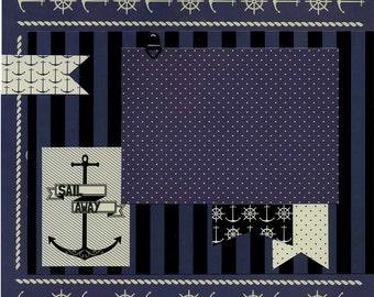 Sail Away - 12x12 Premade Scrapbook Page