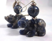 Carved bear earrings - bl...