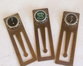 CIJ SALE Vintage Typewriter Key Bookmarks