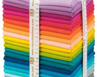 20% off SALE Kona Elizabeth Hartman Designer Palette, 25 pieces, Fat Quarters of 25 fabrics, Kona Cotton, Kona Solid Fabrics, Robert Kaufman