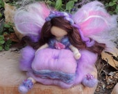 Tooth fairy - Girl - Waldorf Inspired Needle Felted in Shades of Purple and Pink