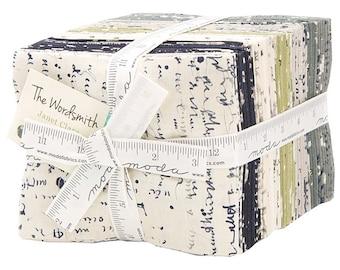 Moda THE WORDSMITH Fat Quarter Bundle 35 Precut Cotton Fabric Quilting FQs Jane Clare 1390AB