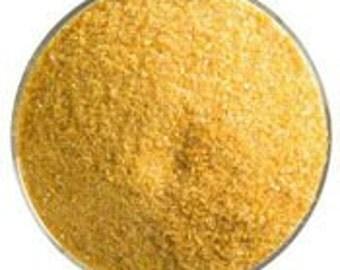 Butterscotch Opal Glass Frit, 90 COE, Bullseye Glass, medium size, 1 pound container