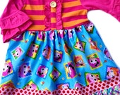 Lalaloopsy party dress girls boutique clothing custom