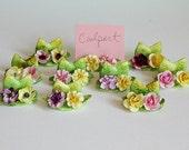 Coalport Place Card Holders Flowers Bone China Wedding Name Holder