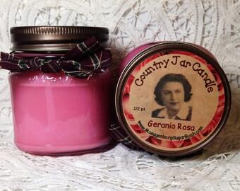 Jar Candle - Half Pint - Geranio Rosa