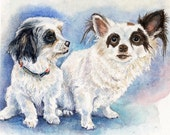 Two Custom Dog Portraits for beeontime