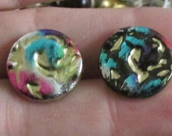 multi colour  color buttons set of 8